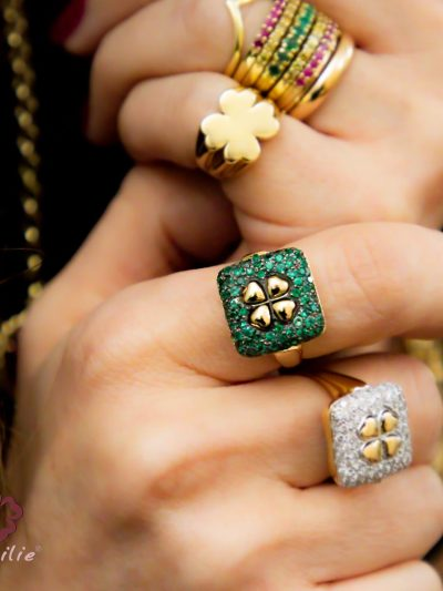 Anello Cocktail Ring Emerald
