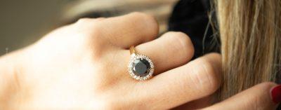 anello diva diamante nero